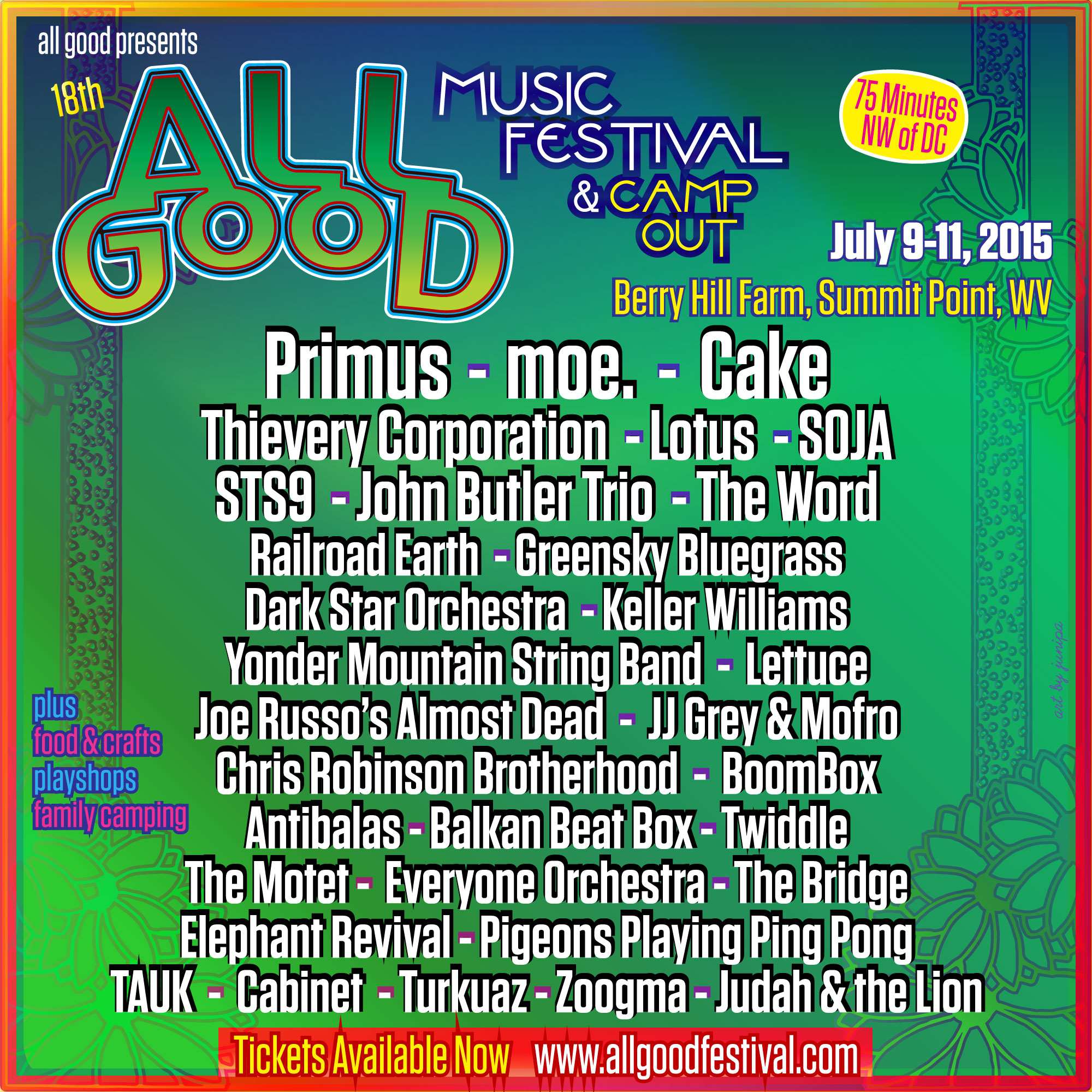All Good Festival Adds Joe Russo's Almost Dead, Railroad Earth & More in Final Lineup Announcement
