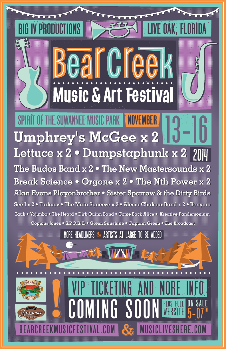 Bear Creek Initial Line-Up Announcement | Nov 13 - 16, 2014