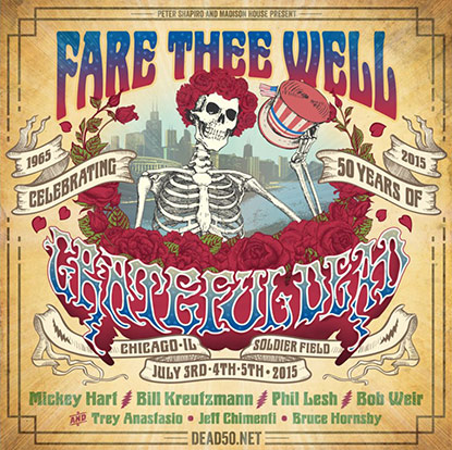It's Offical, Grateful Dead Original Members To Perform Together Again One Last Time, with Trey Anastasio, Bruce Hornsby and Jeff Chimenti