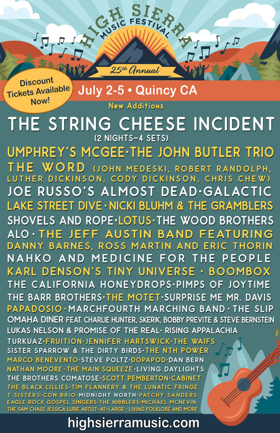 High Sierra Music Festival Lineup Additions! Umphrey's McGee, The John Butler Trio, and more!