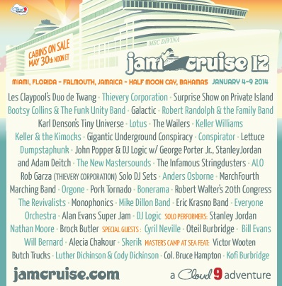 Jam Cruise 12 Announces Artist Lineup, First Ever Masters Camp at Sea, and more