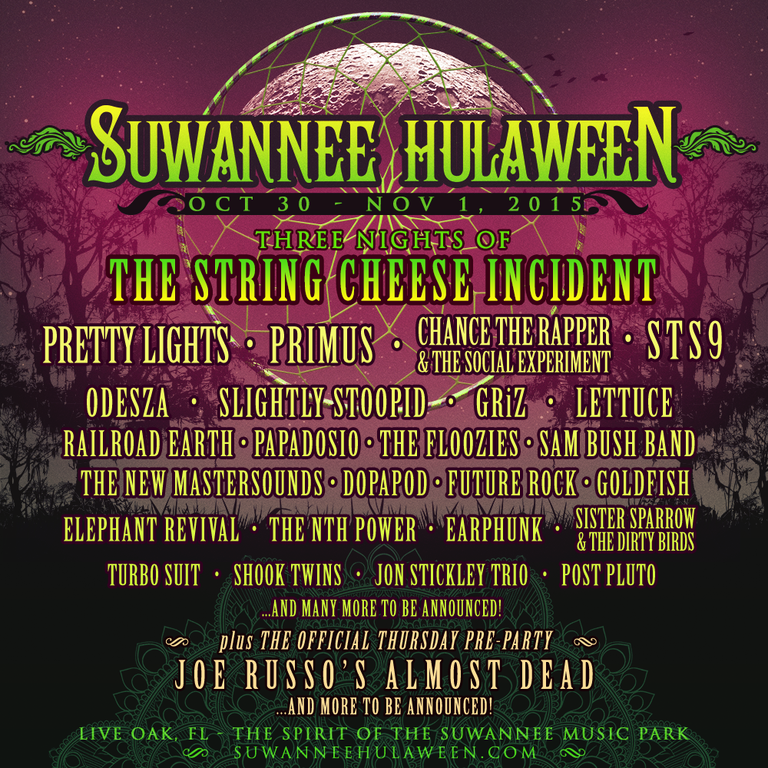 Suwannee Hulaweeen wave 1 line-up announcement