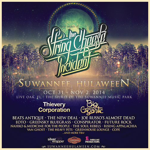 Initial Line Up Is Unveiled for the Second Annual String Cheese Incident Suwanee Hulaween