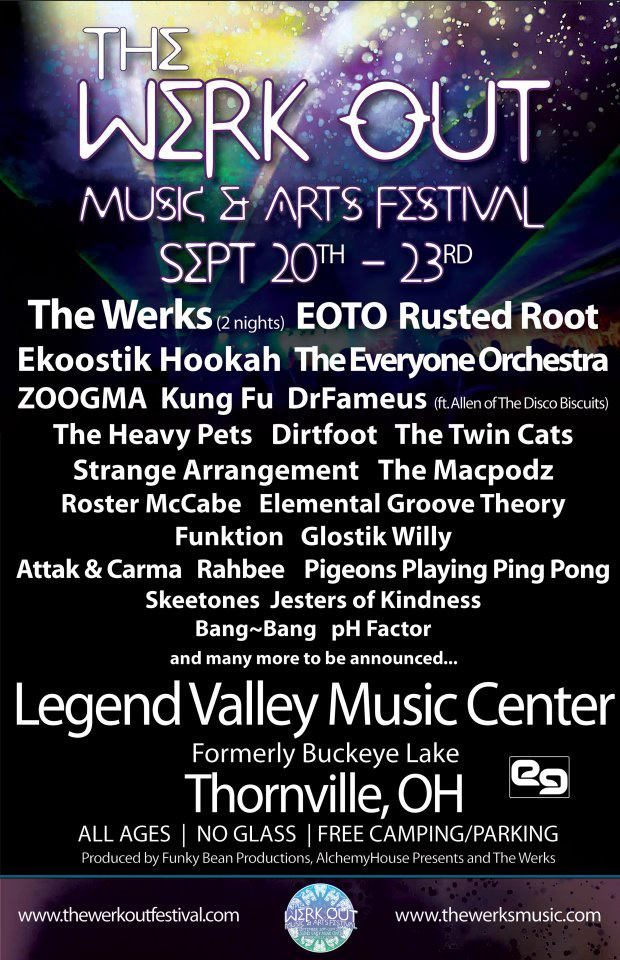 The Werk Out Festival Adds Lotus, Greensky Bluegrass, Break Science, roeVy & more